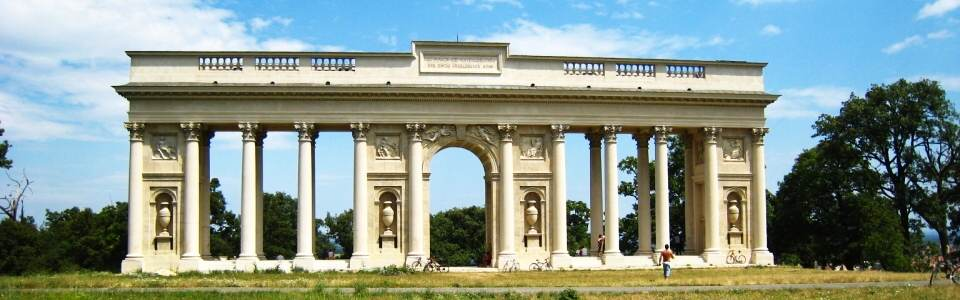 antic colonnade Reistna with Corinthian columns over Valtice