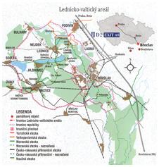 mapa Lednicko-Vantického areálu